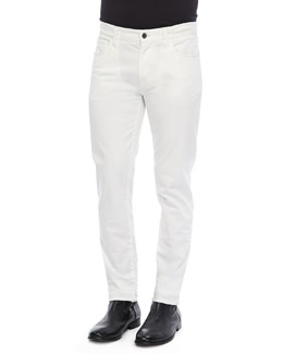 Dolce & Gabbana Garment Dyed Pants, White