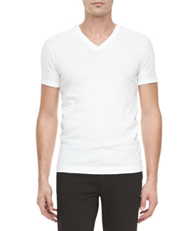 Dolce & Gabbana Basic V-Neck Tee, White