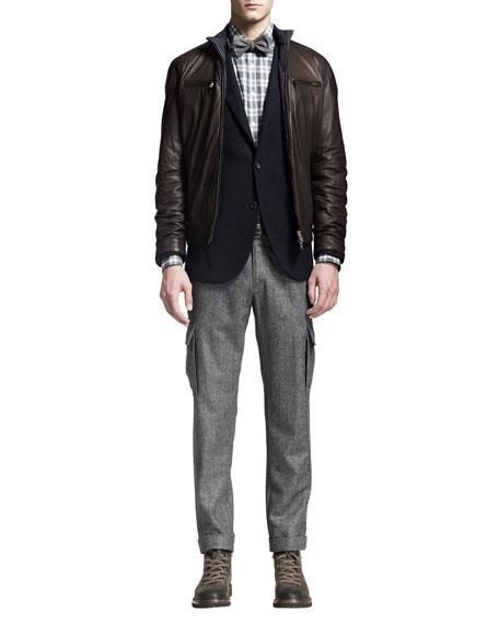 Wool Cargo Pants, Gray