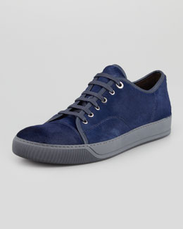 Lanvin Calf Hair Low-Top Cap-Toe Sneaker