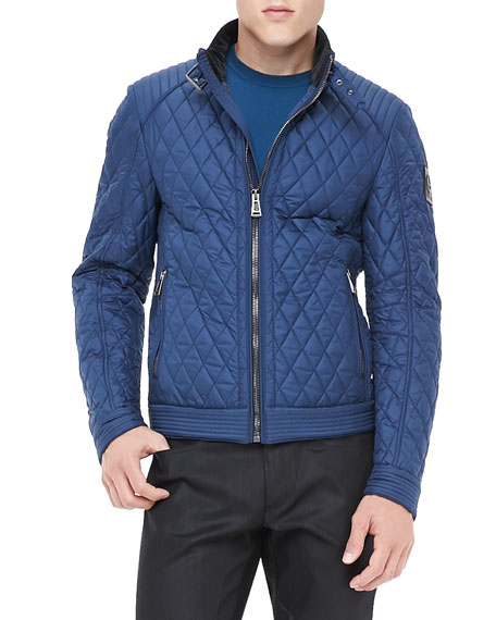 Belstaff Brambley Quilted Racer Jacket, Blue