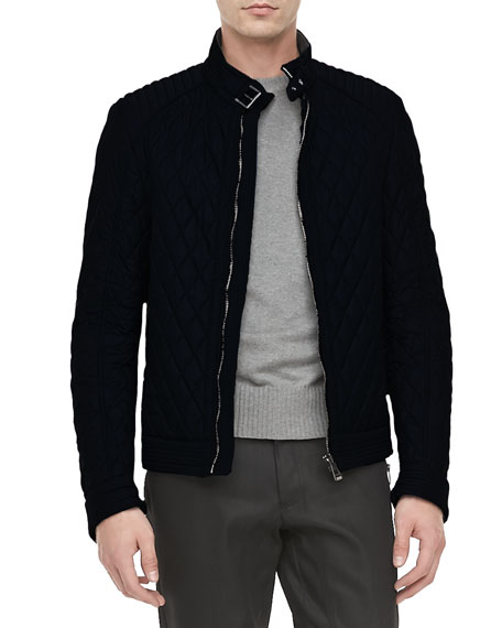 Brambley Quilted Racer Jacket, Black