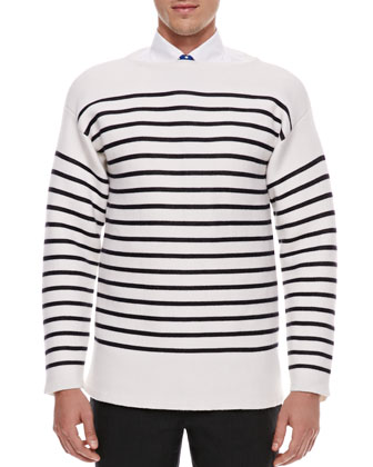 Striped Cashmere-Blend Sweater
