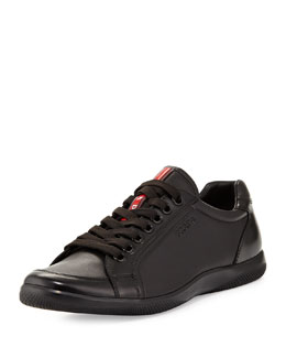 Prada Offshore Leather Sneaker, Black