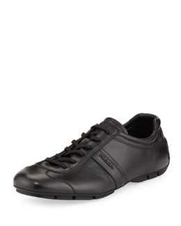 Prada Monte Carlo Low-Profile Leather Sneaker