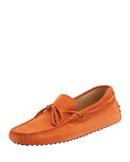 Tod's Suede Tie Driver, Orange