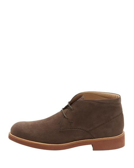 Nubuck Contrast-Sole Desert Boot, Brown