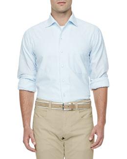 Andre Soft-Honeycomb Textured Shirt, Light Blue
