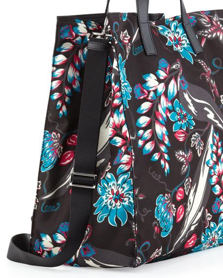 22b15ad4cceb Prada Men's Floral Nylon Tote Bag, Multi