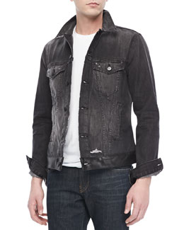 J Brand Jeans Owen Jean Jacket, Destroyed Black