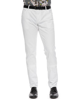 Dolce & Gabbana White Washed Denim Jeans