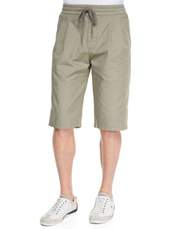 Dolce & Gabbana Five-Pocket Drawstring Walking Shorts, Medium Beige