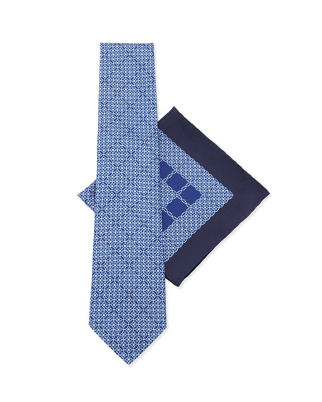Stefano Ricci Silk Tie & Pocket Square Set,