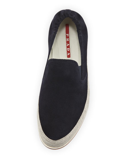 San Tropez Espadrille Slip-On Sneaker, Navy