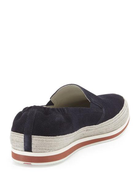 Slip Navy San Espadrille Tropez Prada On Sneaker qvRYR