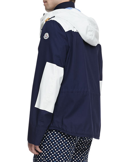 Leo Hooded Toggle Jacket, Navy