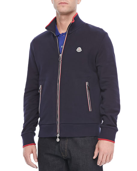 Maglia Web-Detail Track Jacket, Navy