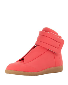 Maison Martin Margiela Future Leather High-Top Sneaker, Pink