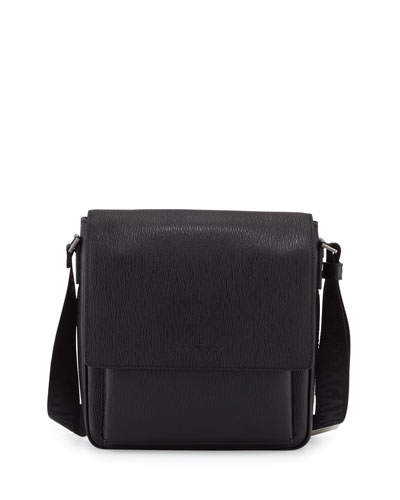 Revival Leather Men's Messenger Bag, Black