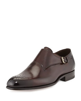 Charles Single-Monk Loafer, Brown