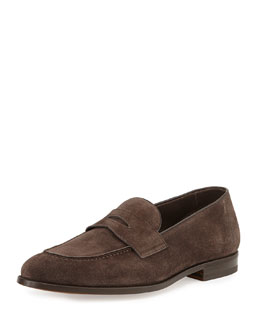 Hugh Suede Penny Loafer