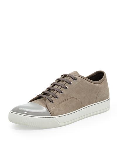 Suede Cap-Toe Low-Top Sneaker