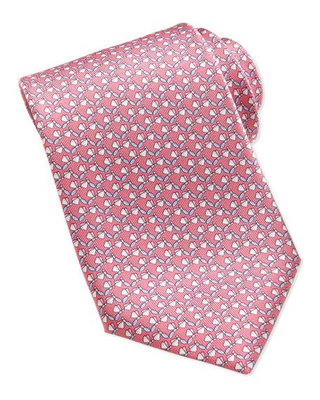 ed9a0b2bf480 Salvatore Ferragamo Dragonfly-Pattern Silk Tie, Pink