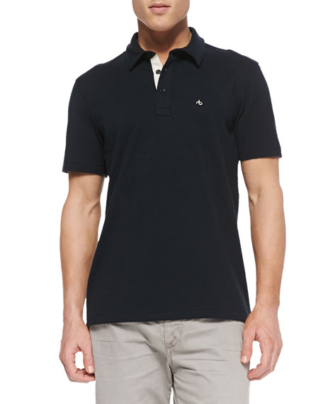 Moulinex Chest-Pocket Polo, Navy