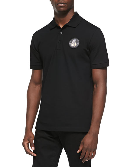 competitive price c0f28 2926d Rottweiler-Patch Polo Black