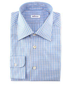 Check Woven Dress Shirt, Blue