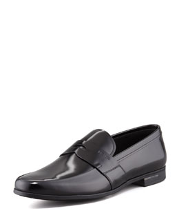 Shiny Penny Loafer, Black