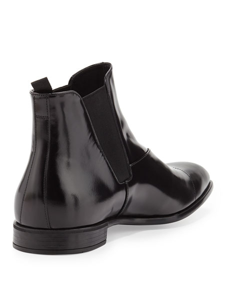Spazzolato Chelsea Dress Boot, Black