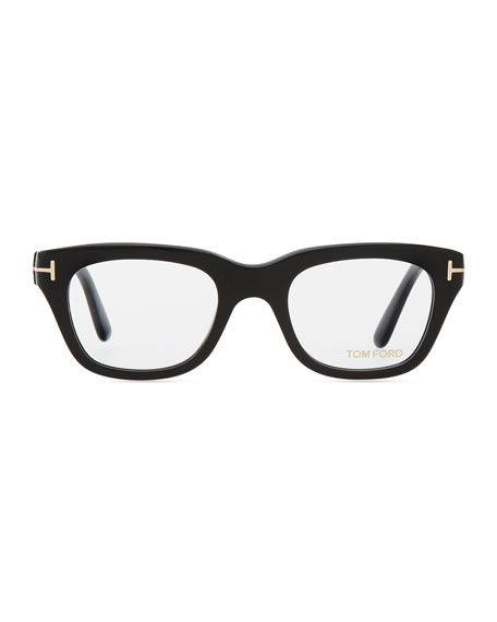 Large Acetate Frame Glasses, Black