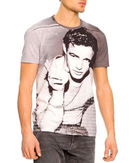 Dolce & Gabbana Marlon Brando Icon Tee, Gray