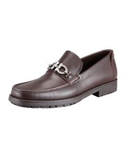 Master Gancini Loafer, Brown