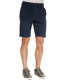 7 For All Mankind Twill Chino Shorts, Navy