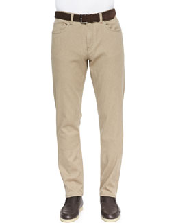 Brisbane Delave 5-Pocket Pants, Beige