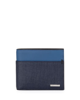 Fendi Men's Colorblock Wallet, Blue/Navy