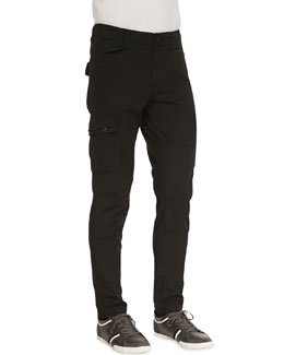 J Brand Jeans Trooper Cargo Twill Pants, Black