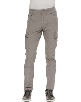 J Brand Jeans Trooper Cargo Twill Pants, Mineral Gray
