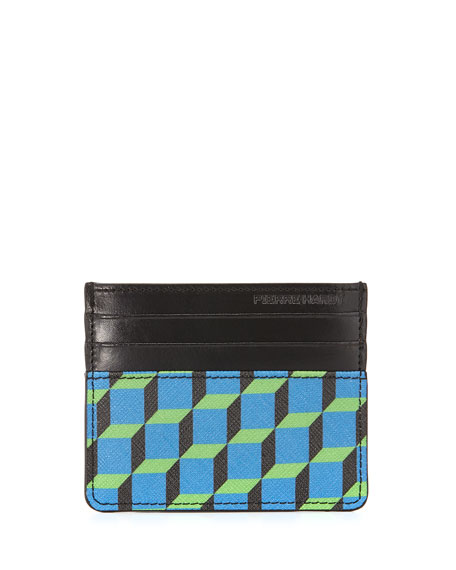 Napa Cube Clip Card Case, Blue/Black