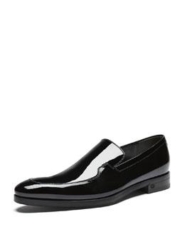Patent Leather Slip-On Loafer, Black