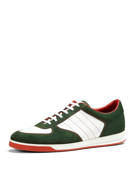 bbea4db7b Gucci 1984 Suede Low-Top Sneaker, Green
