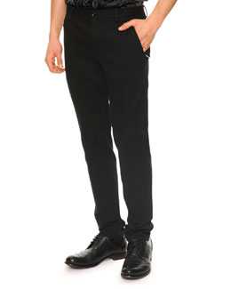 Dolce & Gabbana Seam-Detail Skinny Pants, Black