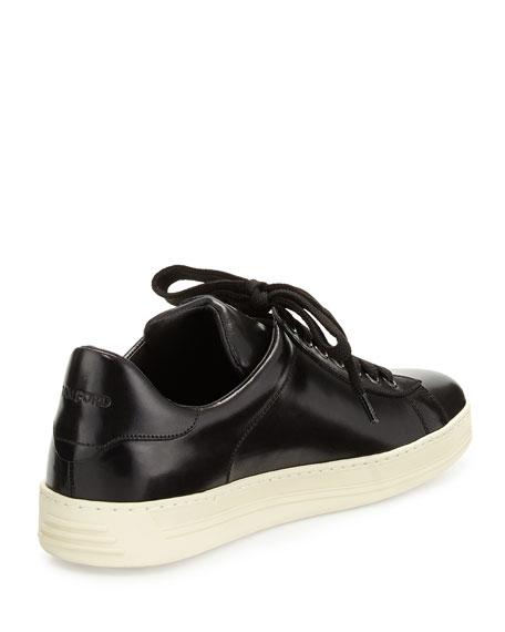 Russell Low-Top Calfskin Sneaker, Black