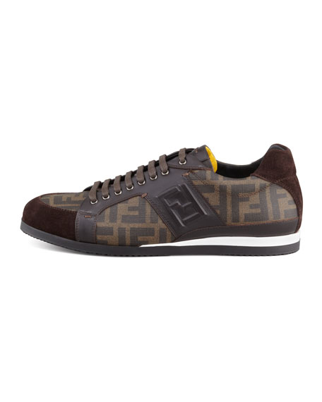clearance official visit Fendi Printed Low-Top Sneakers fbAmNorDcC