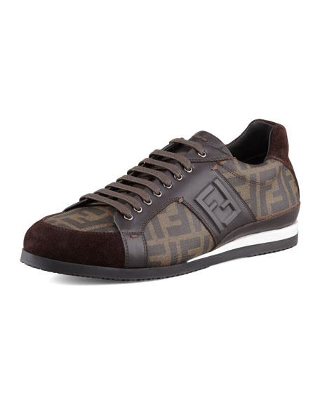 brand new unisex sale online cheap 2015 Fendi Zucca Low-Top Sneakers C3L8yE2az