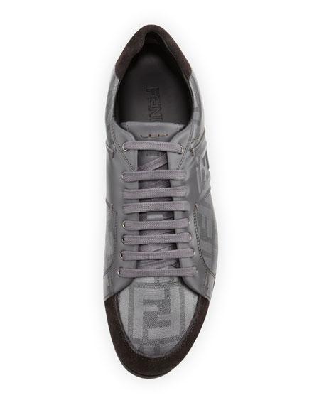 Men's Zucca Low-Top Sneaker, Silver