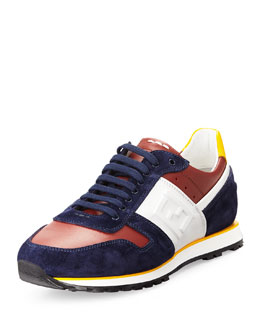 Fendi Tricolor FF Low-Top Sneaker, Multi