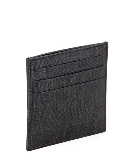 Men's Logo Credit Card Case, Black